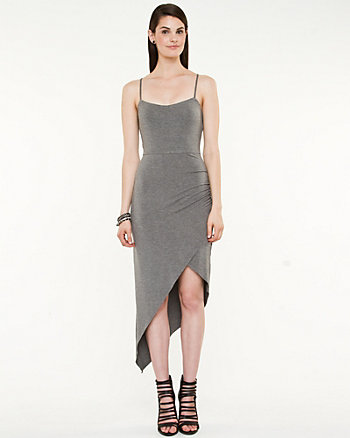 Jersey Asymmetrical Halter Dress