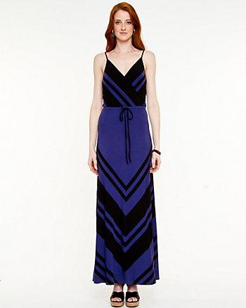 Jersey V-Neck Maxi Dress
