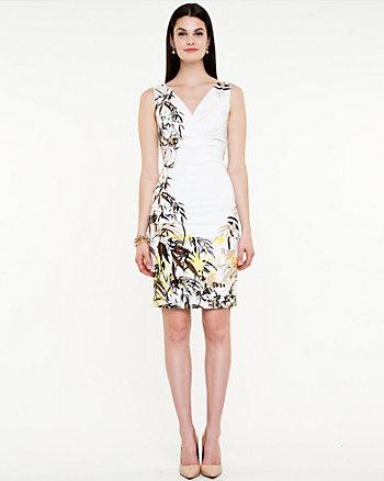 Floral Stretch Poplin Dress