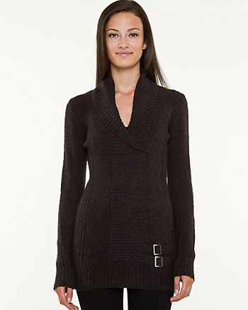 Rib Shawl Collar Sweater