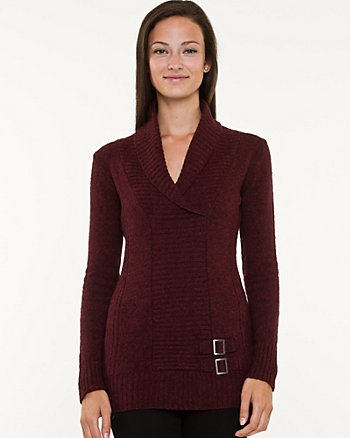 Rib Shawl Collar Sweater
