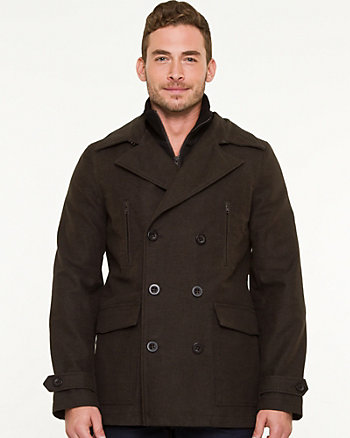 Moleskin Double Breasted Peacoat