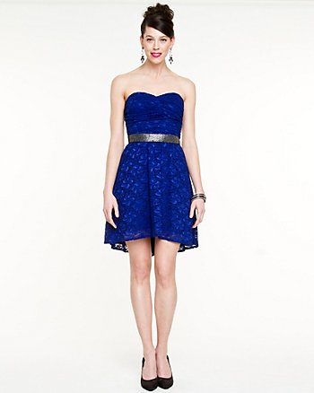 Lace High-Low Hem Dress