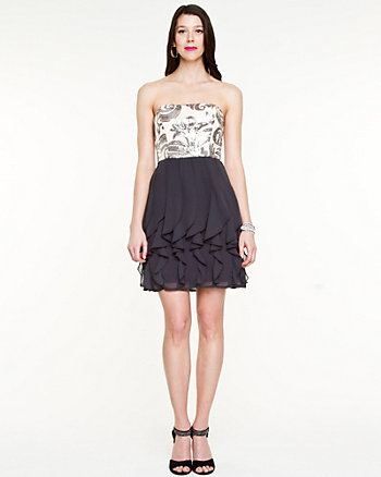 Sequin & Chiffon Party Dress