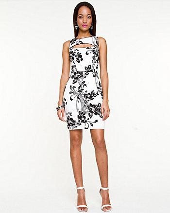 Floral Print Cutout Dress