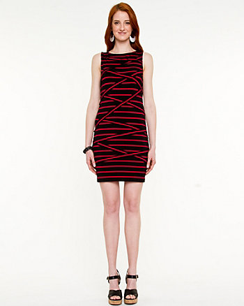 Spliced Stripe Knit Dress