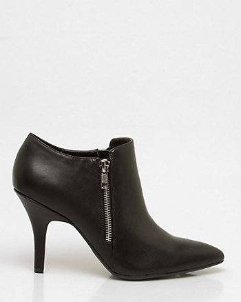 Leather-Like Pointy Bootie