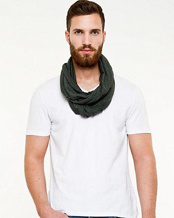 Stripe Knit Infinity Scarf