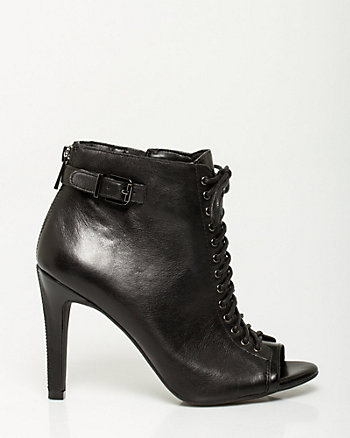 Leather Lace-up Shootie