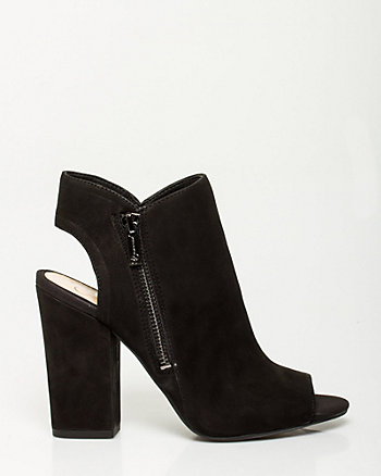 Leather Open Back Shootie