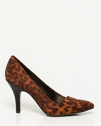 Leopard Almond Toe Pump