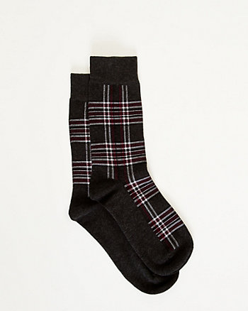 Check Print Socks