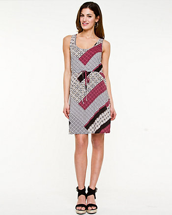 Scarf Print Fit & Flare Dress