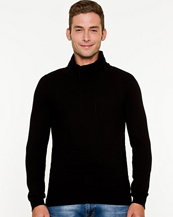 Knit Funnel Neck Sweater
