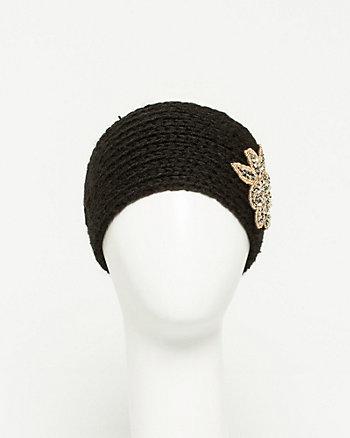 Embellished Rib Knit Headband