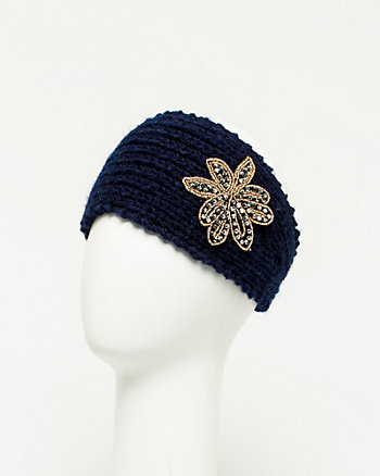 Embellished Rib Knit Headband