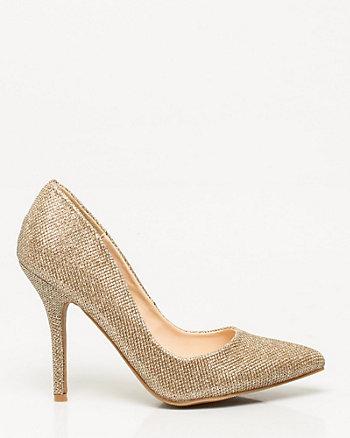 Glitter Pointy Toe Pump