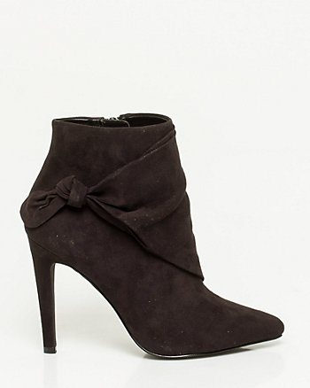 Suede-Like Knot Ankle Boot