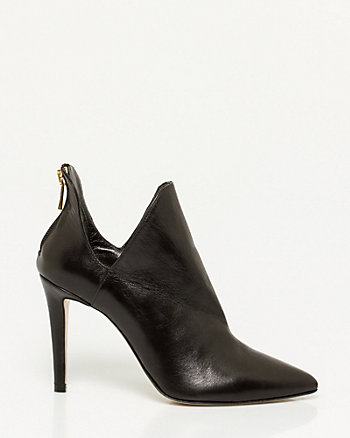 Italian-Made Leather Pointy Toe Shootie