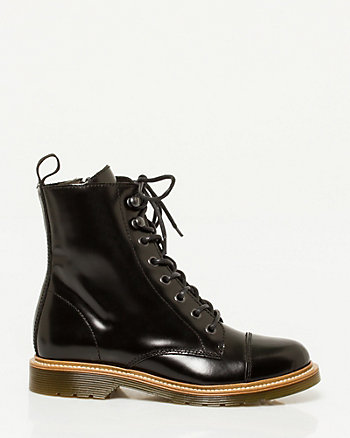 Leather Lace-Up Combat Boot