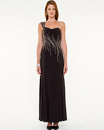 Sequin Asymmetrical Gown
