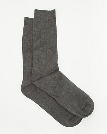 Rayon Blend Ribbed Socks