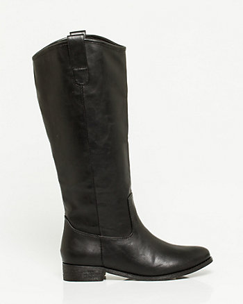 Leather-Like Riding Boot