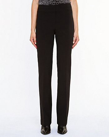 Wool Blend Slight Flare Leg Pant