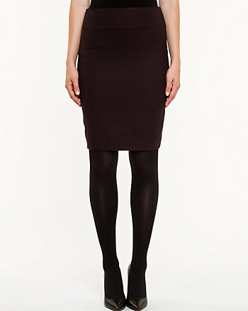 Houndstooth Modern Fit Pencil Skirt