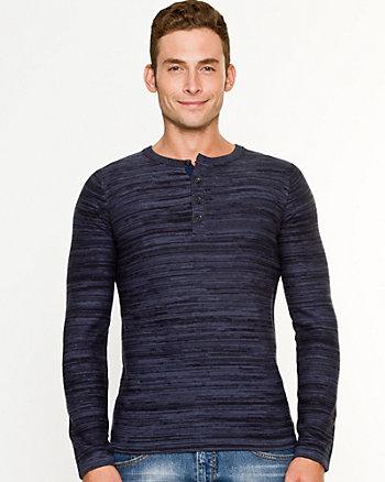 Space Dye Cotton Blend Sweater