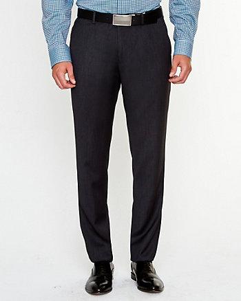 Pantalon à jambe droite en sergé chevron