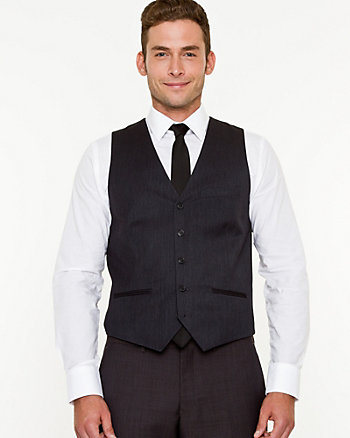 Mini Herringbone Contemporary Fit Vest