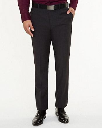 Wool Blend Straight Leg Pant