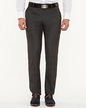 Wool Blend Glen Check Pant