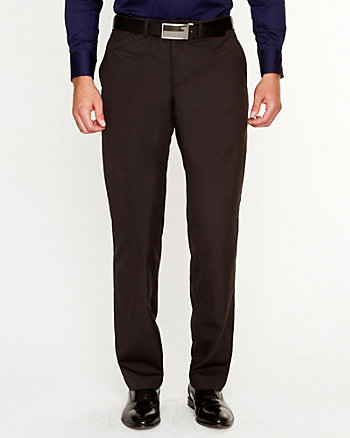 Wool Blend Check Pant