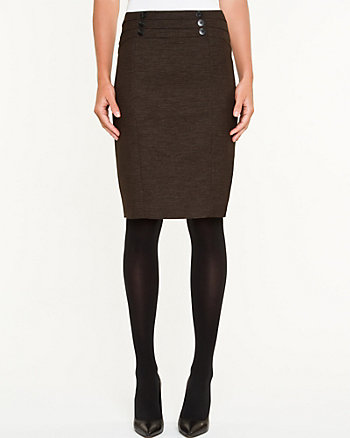 Two Tone Modern Fit Pencil Skirt