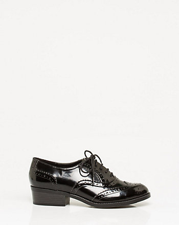 Leather-Like Lace-Up Oxford
