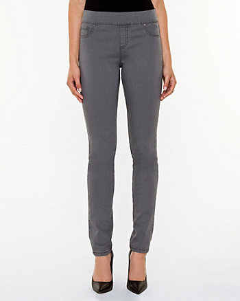 Denim Pull-on Slim Leg Pant