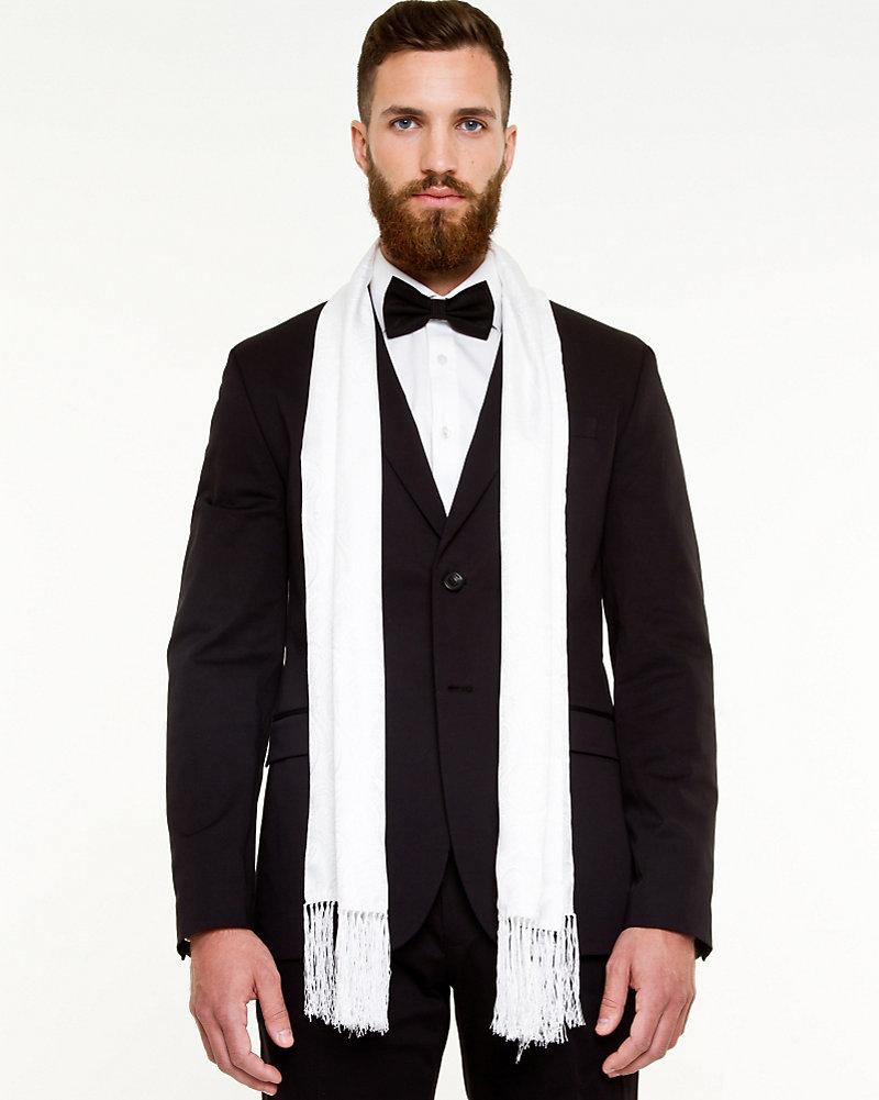 104056df244 Silk Blend Tuxedo Scarf | LE CHÂTEAU