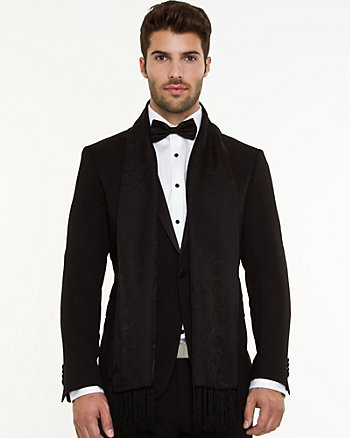 Silk Blend Tuxedo Scarf