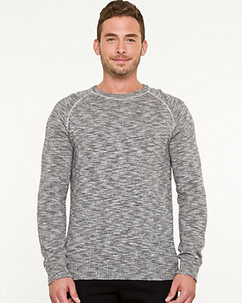 Slub Knit Crew Neck Sweater