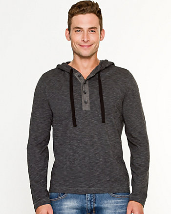 Slub Cotton Hooded Sweater