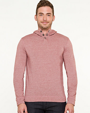 Jersey Knit Hooded Sweater