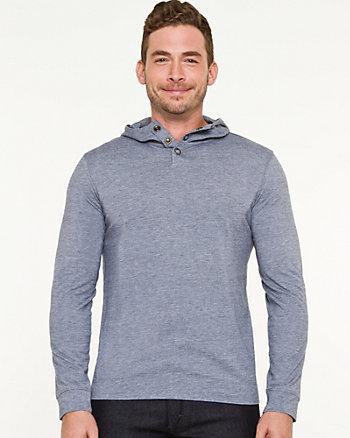Jersey Knit Hooded Sweater