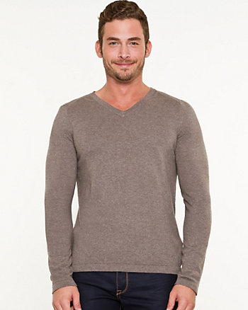 Silk Blend V-Neck Sweater