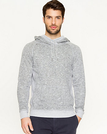 Knit Hooded Sweatshirt