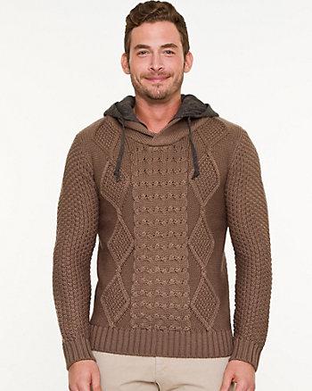 Wool Blend Hooded Sweater