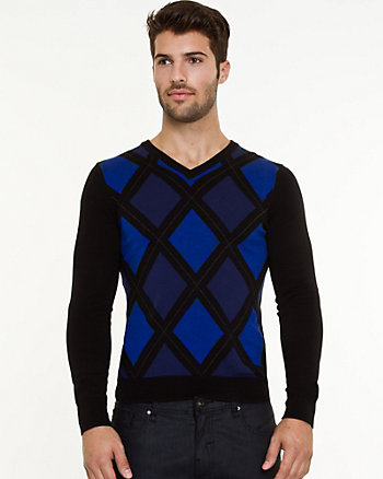 Cotton Argyle Sweater