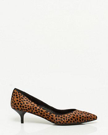 Escarpin à bout pointu à motif léopard