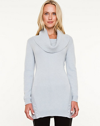 Viscose Blend Cowl Neck Tunic